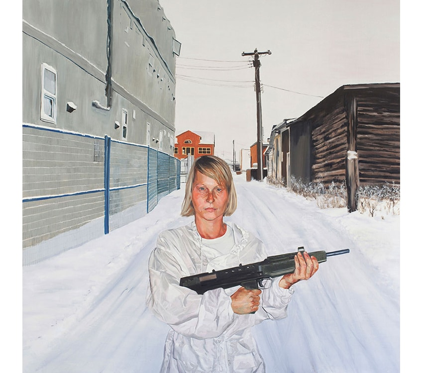 Cassandra, 2010, oil on wood, 200 x 200 cm, Shiff collection